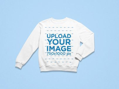 Mockup of a Round Neck Sweatshirt Placed on a Customizable Surface 25312