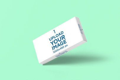 Pills Box Mockup Featuring a Customizable Background 4059-el1