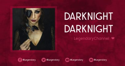 Twitch Banner Creator Featuring a Picture of a Gothic Woman 2524b