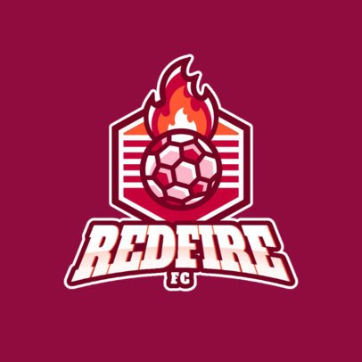 Sports Logo Creator with a Flaming Soccer Ball 1340a-el1