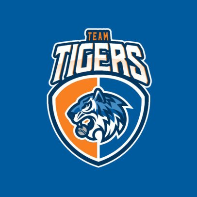 Sports Logo Template with a Fierce Tiger Graphic 1340d-el1
