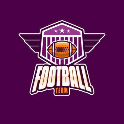 American Football Logo Creator Featuring a Winged Emblem 1340e-el1