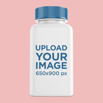 Pills Bottle Mockup Featuring a Plain Background 4063-el1