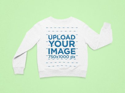 Mockup of a Crewneck Sweatshirt Placed Facing Front on a Flat Surface  25723