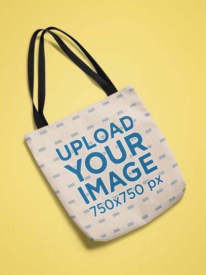 Mockup of a Tote Bag Featuring a Customizable Background 25336