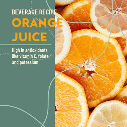 Instagram Post Design Maker for a Refreshing Beverage Recipe 2526c
