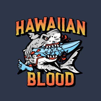 Logo Maker Inspired by Santa Cruz Featuring a Killer Shark 3266b