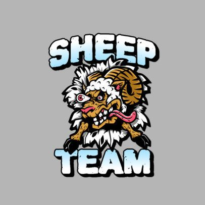 Logo Maker for an Urban Clothing Brand Featuring a Mad Sheep 3266e