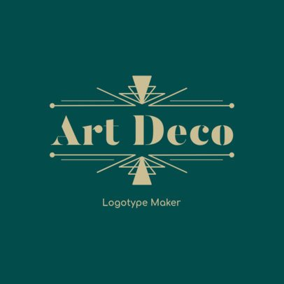 Abstract Logo Maker Featuring an Art Deco Style 3255