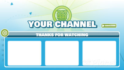 Fun YouTube End Card Video Maker for a Gaming Channel 302-el1