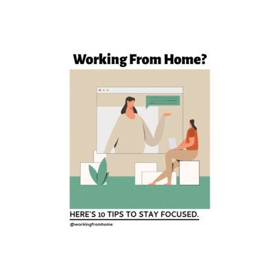 Instagram Post Maker Featuring Ten Tips for Home Office 1392c-el1