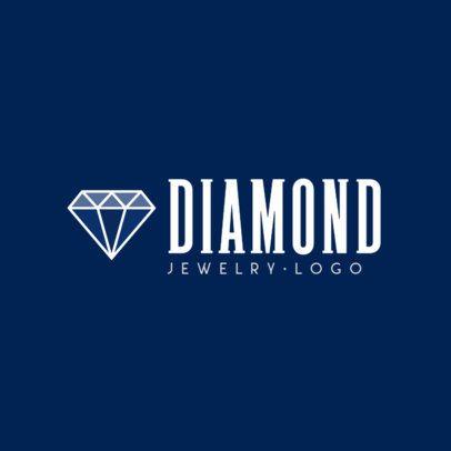 Logo Template Featuring a Minimalist Diamond Icon 1356c-el1