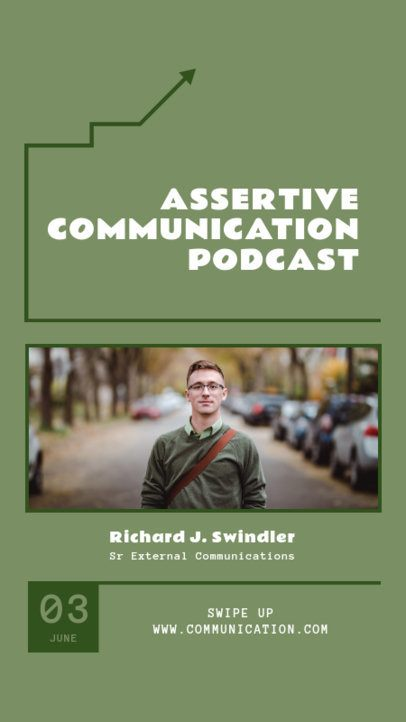 Instagram Story Template for an Assertive Communication Lesson 1366a-el1