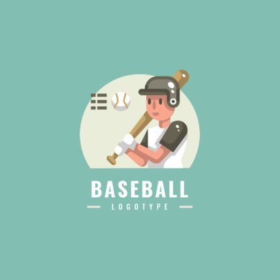 Sports Logo Creator with a Graphic of a Baseball Player 1455d-el1