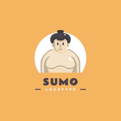 Logo Maker Featuring a Sumo Character 1455e-el1