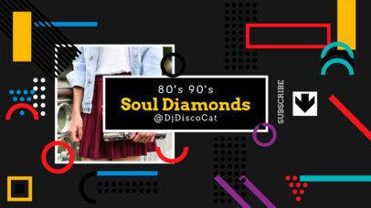 Memphis Style YouTube Banner Generator with Geometric Shapes 2521c