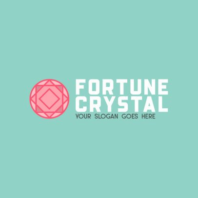 Abstract Logo Generator with a Fortune Crystal Graphic 1356f-el1