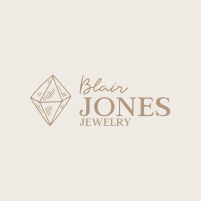 Jewelry Logo Maker Featuring a Precious Stone Graphic 1353b-el1