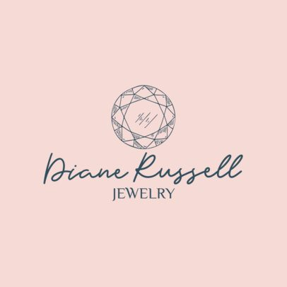 Jewelry Store Logo Creator Featuring a Shiny Gem Drawing 1353e-el1
