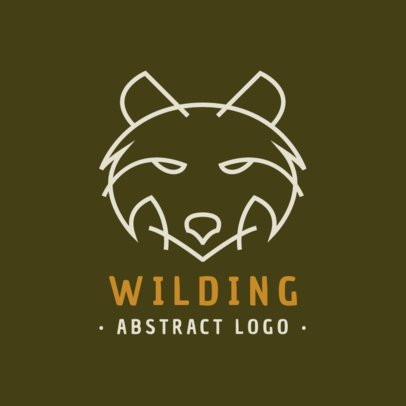 Minimal Logo Maker With a Wild Wolf Outline 1394c-el1