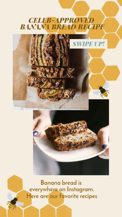 Instagram Story Maker for a Celebrity Banana Bread Recipe 2525f