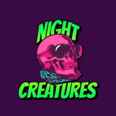 Clothing Brand Logo Generator Featuring a Cool Skull 3266c