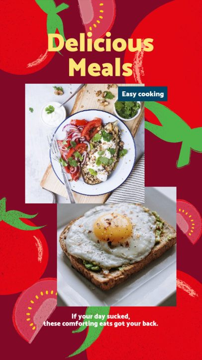 Instagram Story Design Maker for a Delicious Meal 2525i
