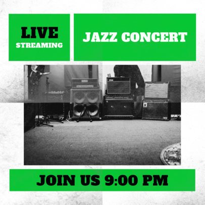 Facebook Post Design Template for a Jazz Streaming 2518b