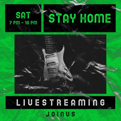 Facebook Post Generator for a Home Streaming Concert 2518e