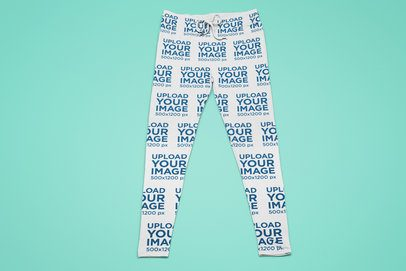 Mockup of a Pair of Sublimated Sweatpants Placed on a Plain Surface 25511