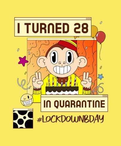 Quarantine T-Shirt Design Maker to Celebrate an Adult's Birthday 2529j