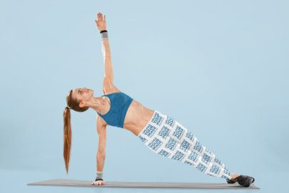 Sublimated Leggings Mockup of a Woman on a Yoga Mat 34333-r-el2
