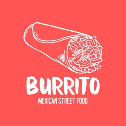 Mexican Street Food Logo Maker with a Burrito Icon 1486c-el1