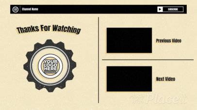 YouTube End Card Video Maker with a Steampunk Vibe 1820-el1