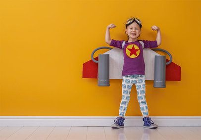 Sublimated Leggings Mockup of a Little Girl Wearing a Jetpack Toy 34573-r-el2