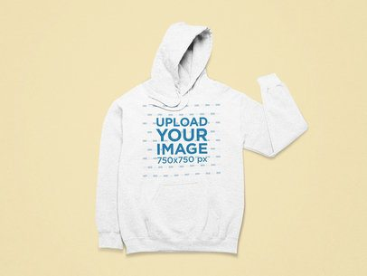 Mockup of a Front-Facing Heathered Hoodie 25719