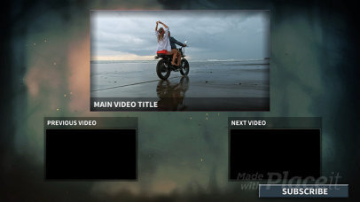 Cool YouTube End Card Video Generator with Text Animations 1736-el1