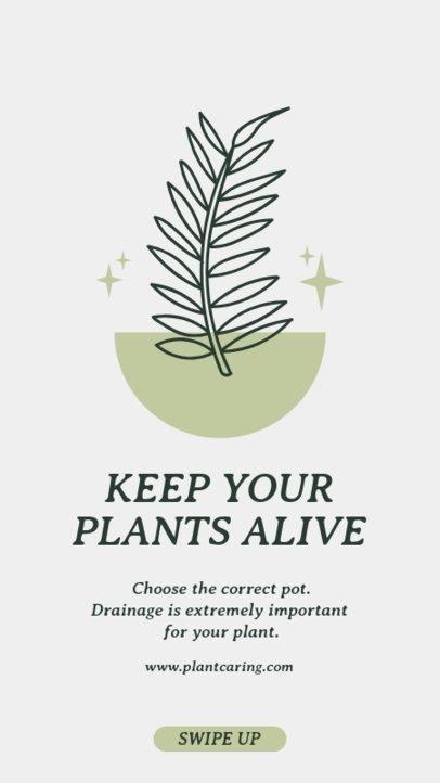 Instagram Story Maker Featuring Indoor Gardening Care Routines 1457-el1