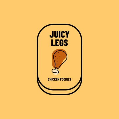 Logo Creator with a Chicken Leg Graphic for a Restaurant 1489c-el1
