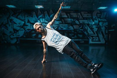 Tank Top Mockup of a Man Doing a Breakdance Routine 34635-r-el2