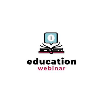 Logo Maker for Education Webinars 1501-el1