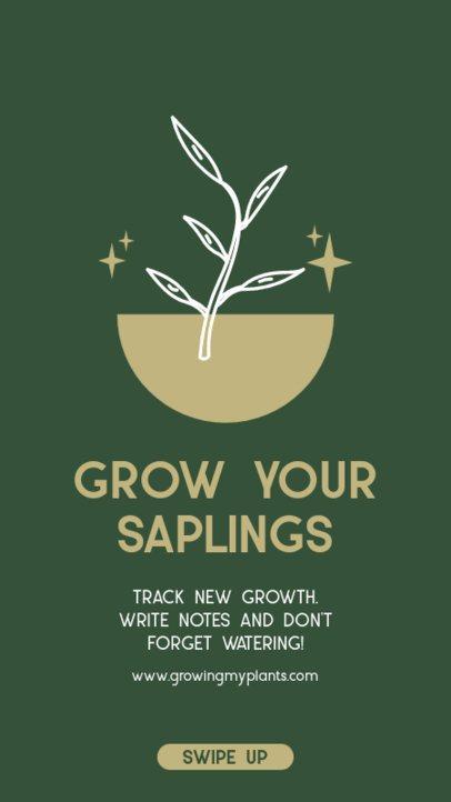 Instagram Story Creator for Saplings Growing Tips 1457a-el1