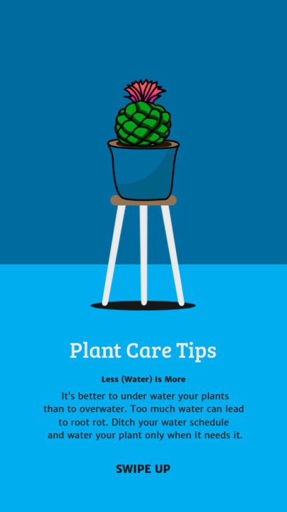 Instagram Story Maker for Gardening Tips with Plant Graphics 1465-el1