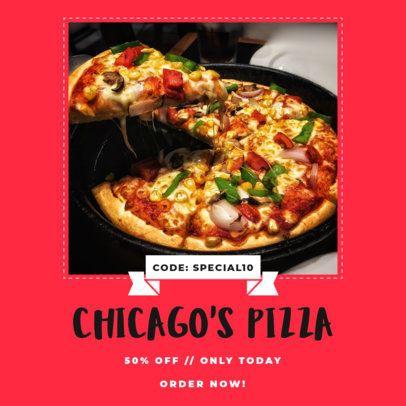 Promo Ad Instagram Post Maker for a Pizza Place 1454b-el1