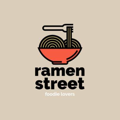 Simple Logo Maker for a Ramen Place 1490f-el1