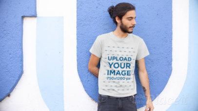 T-Shirt Video of a Man Smoking an Electronic Cigarette 12980