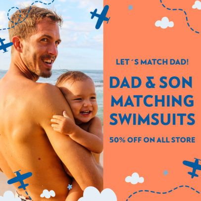 Instagram Post Maker with Father's Day Limited-Time Offers 2545f