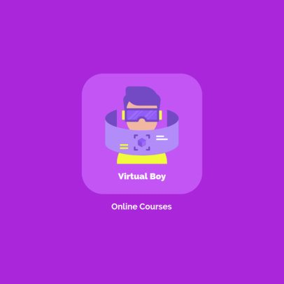 e-Learning Platform Logo Maker Featuring a VR Device Graphic 1502d-el1