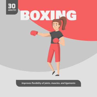 Instagram Post Creator Featuring a Female Boxer Graphic 1478b-el1