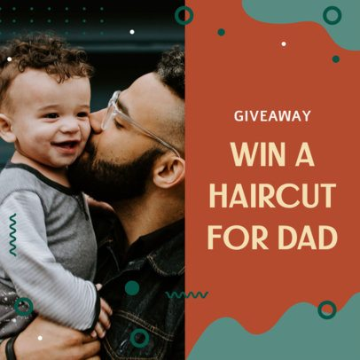 Father's Day Instagram Post Template for a Stylist's Giveaway 2545k